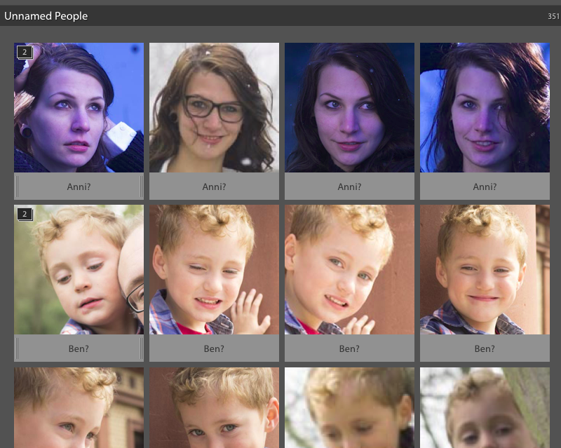 Lightroom 6 – Eine ganze Liste an Gesichtern wird nicht gestapelt, obwohl durchaus korrekt erkannt