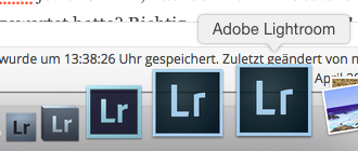 Lightroom 2 bis Lightroom 6 – Version 6 trägt dasselbe Icon wie Version 5