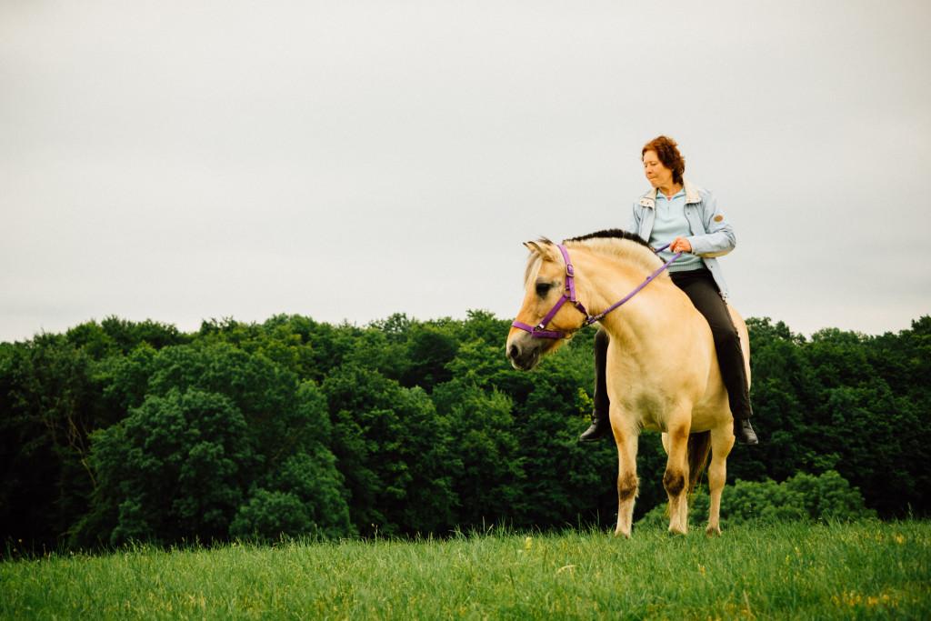 Mit Hanni auf der Weide