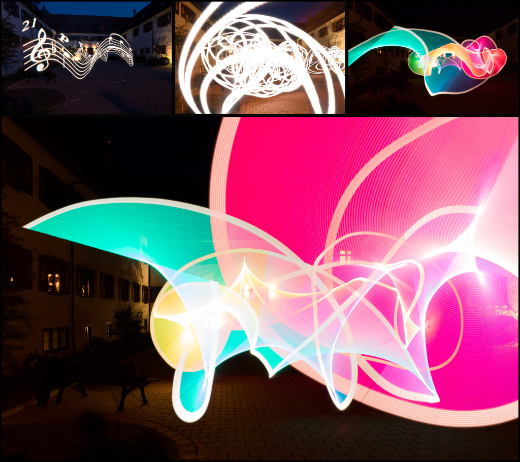 Happyshooting Workshop – Klostergeister 2015 – Der Pixelstick von Wolfgang war ein Highlight :)