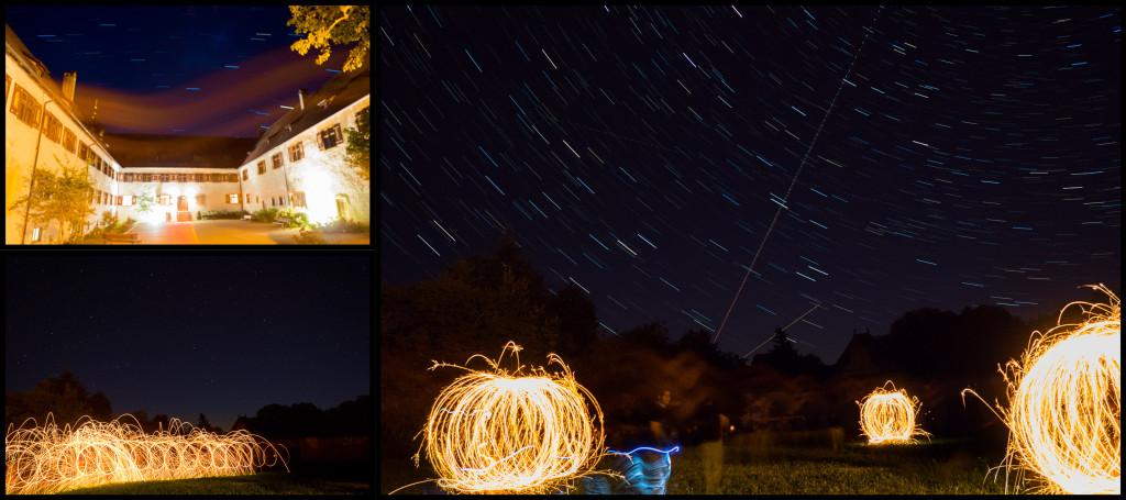 Happyshooting Workshop – Klostergeister 2015 – Nacht zum Tag gemacht mit Stahlwolle, Wunderkerzen und Sternenhimmel