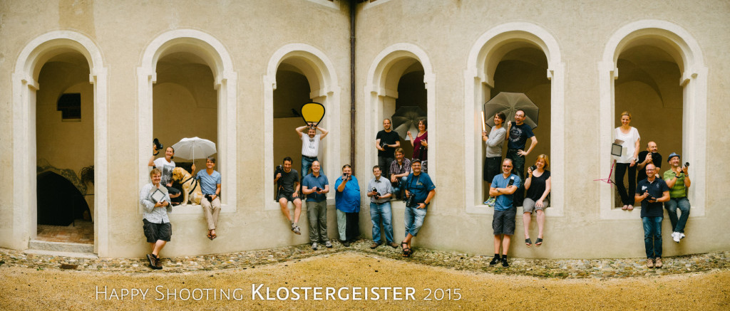 Happy Shooting - Klostergeister 2015 - Gruppenbild im Kreuzgang