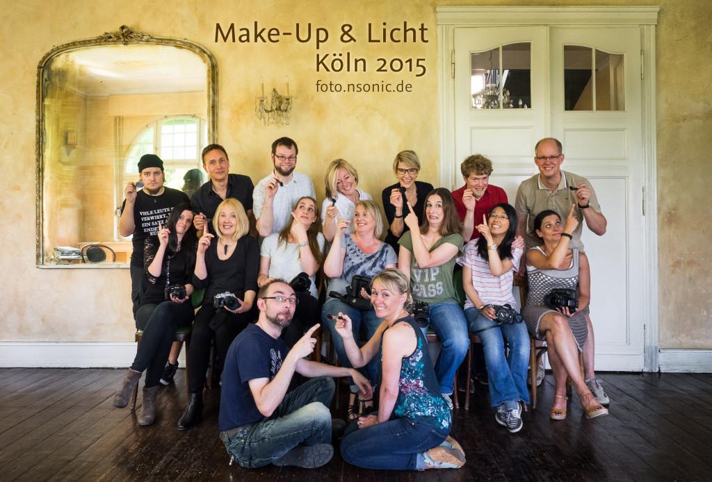 Gruppenbild vom Make-Up & Licht Workshop in Köln