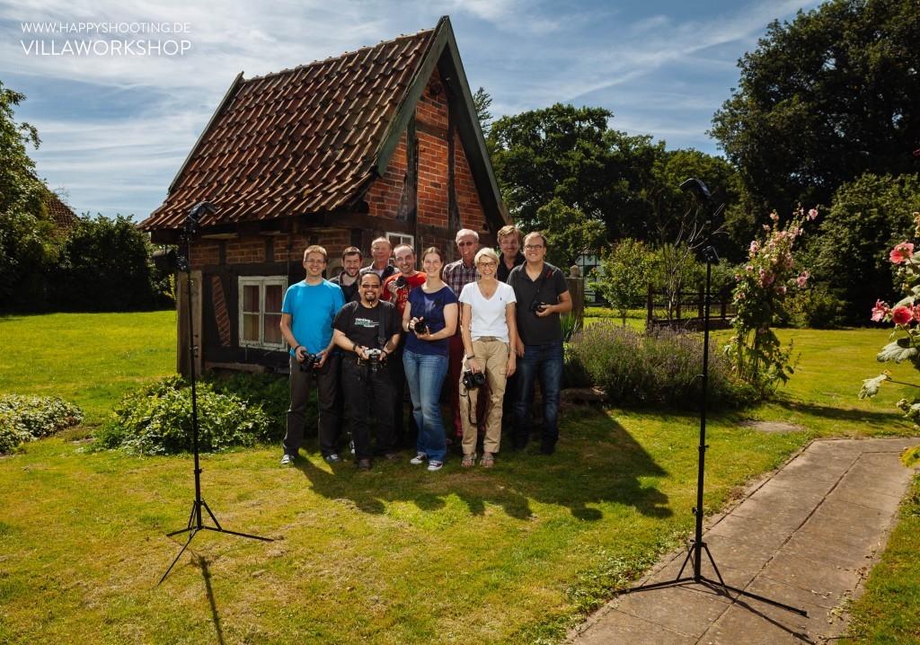 Gruppenbild mit Saufhaus - Erster Happy-Shooting-Villa-Workshop, Thema Licht