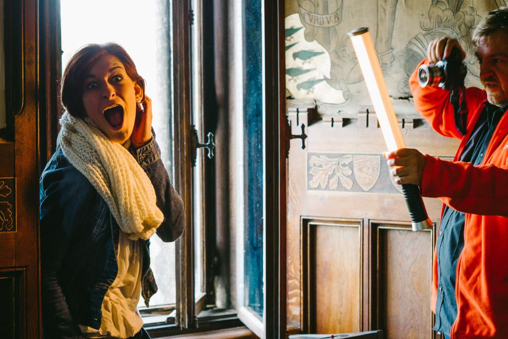 Alina, Chris und etwas Dauerlicht – Spaß bei den Schlossgespenstern