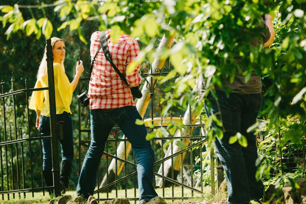 Katharina mit Ralf und Daniel –Das Tor ist auf? Nix wie hin da :)