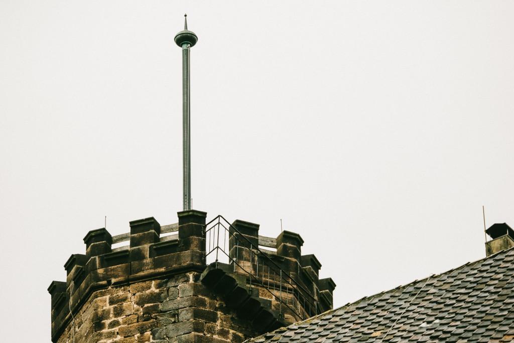 Der Turm ist auf den letzten Metern nur über eine Außentreppe zu erreichen – nichts für schwache Nerven