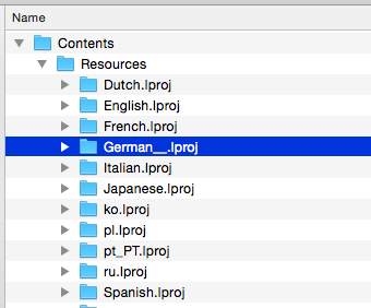 Verzeichnis für die deutschen Resourcen hier bereits umbenannt (Unterstriche ergänzt) damit Capture One in englisch startet