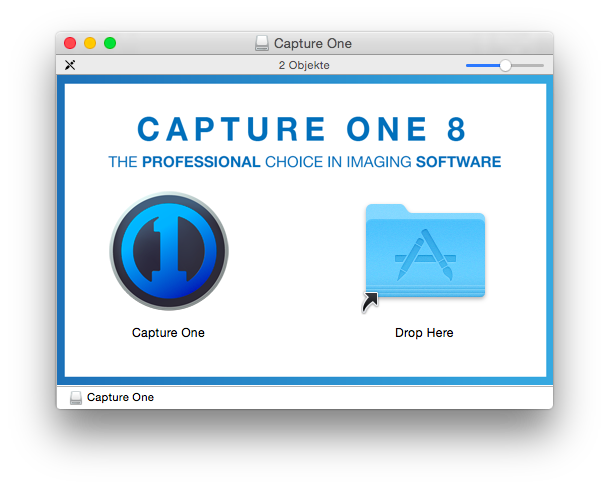 Capture One Pro 8 – Installation am Mac per Drag&Drop, so soll es sein