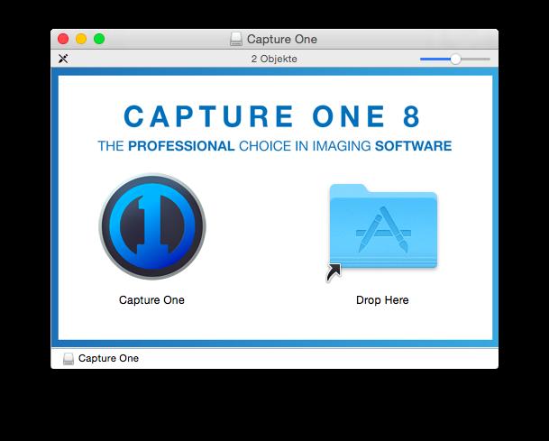 Capture One Pro 8 – Installation am Mac per Drag&Drop, so soll es sein
