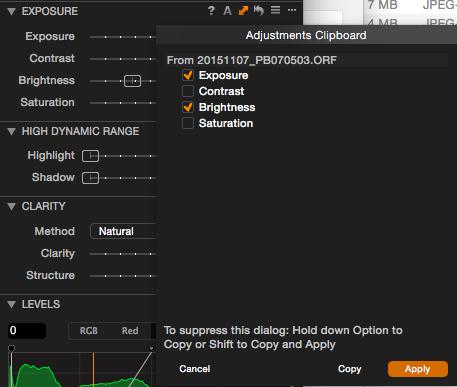 Capture One Pro 8 kann Einstellungen pro Bearbeitungswerkzeug auf markierte Bilder übertragen