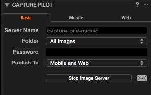Capture One Pro 8 – Die Freigabe für die Pilot-App starten