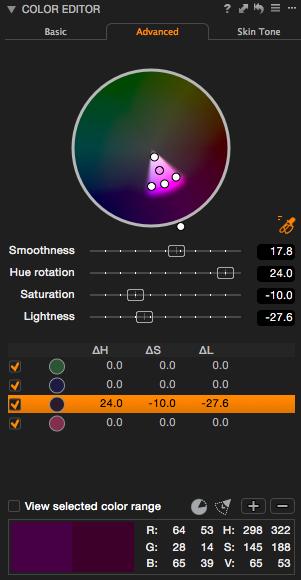 Capture One Pro 8 – Erweiterte Farbanpassungen sind eine Stärke von Capture One. Das Farbrad dürfte gerne größer sein