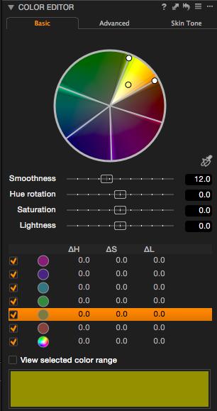 Capture One Pro 8 - Im Basic-Farb-Editor kann man sehr behutsame Anpassungen in festen Farbkanälen vornehmen