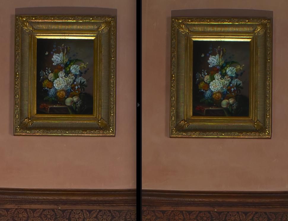 Capture One Pro 8 (links) vs. Lightroom 6 (rechts) mit Kamera-Profil und angepasster Schärfe und Kontrast