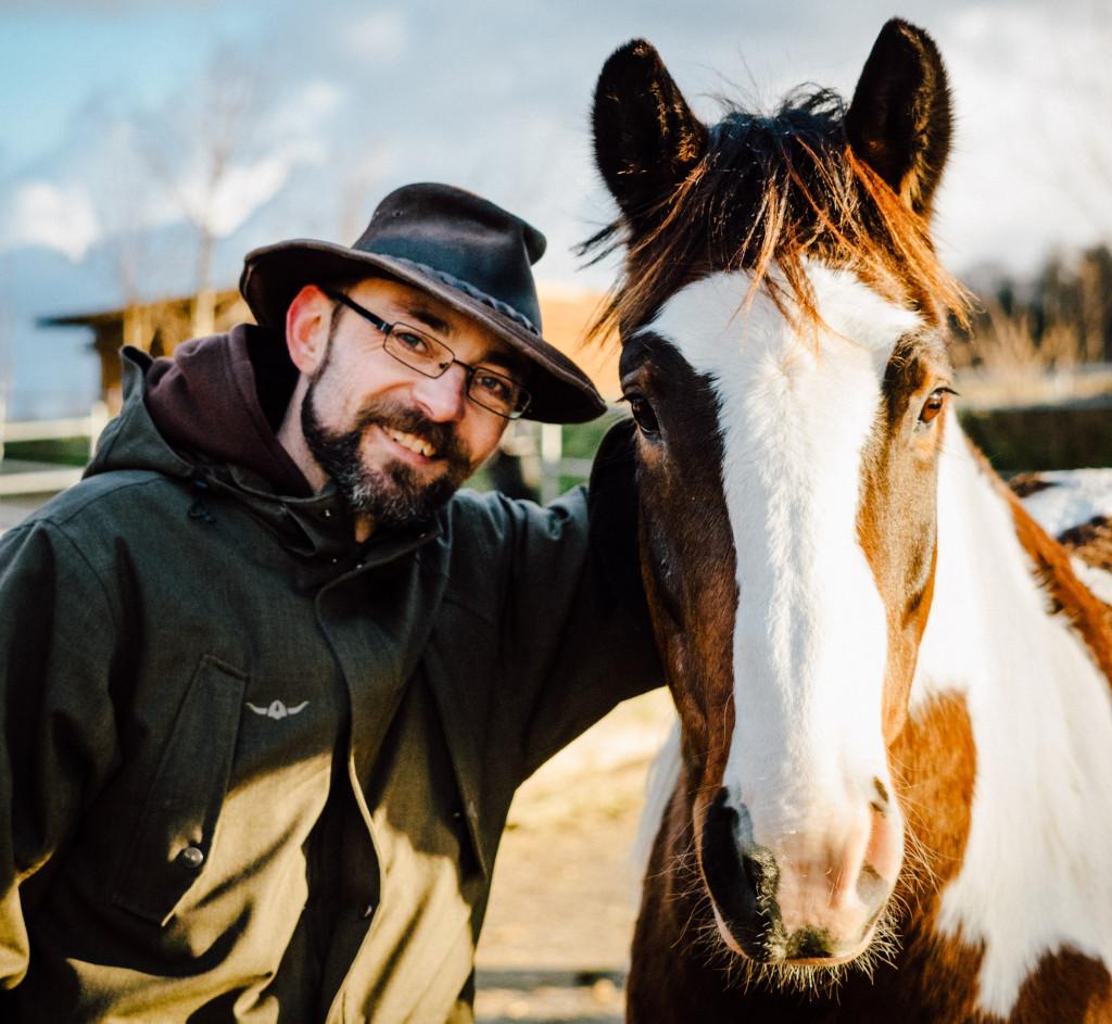 Boris (links) und Pferd