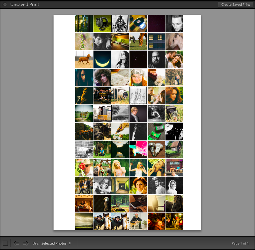Raster mit Bildern gefüllt. Die Bilder lassen sich einzeln mit der Maus verschieben um das Motiv ins Quadrat zu ziehen