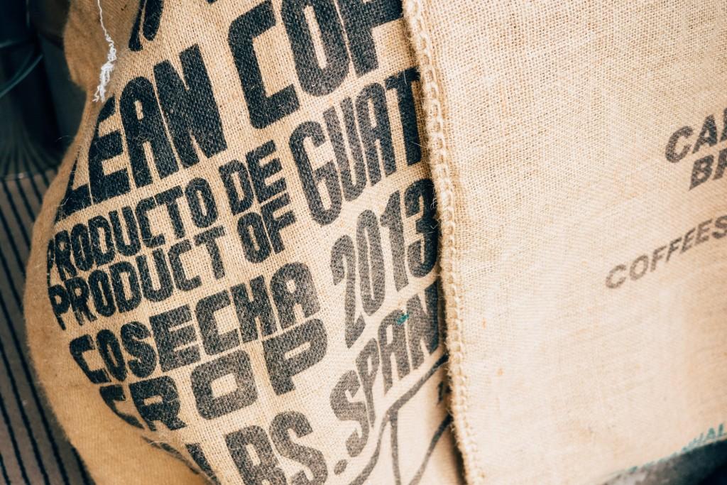 Kaffeesäcke aus aller Welt