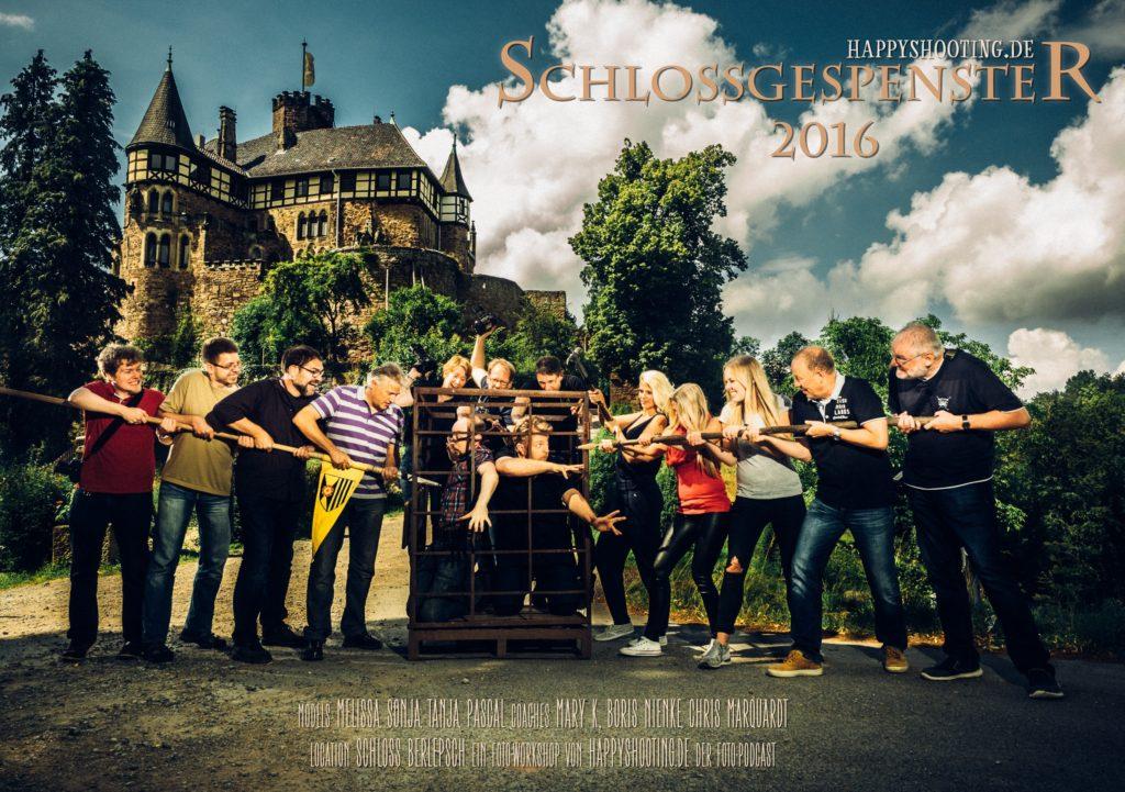 Unser Gruppenbild vom Schlossgespenster Workshop 2016 – Eine echte Gemeinschaftsproduktion