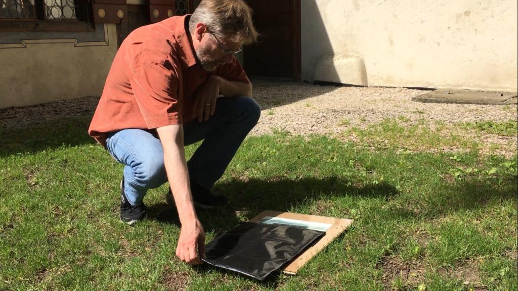 Wolfgang beim erstellen der Belichtungsreihe