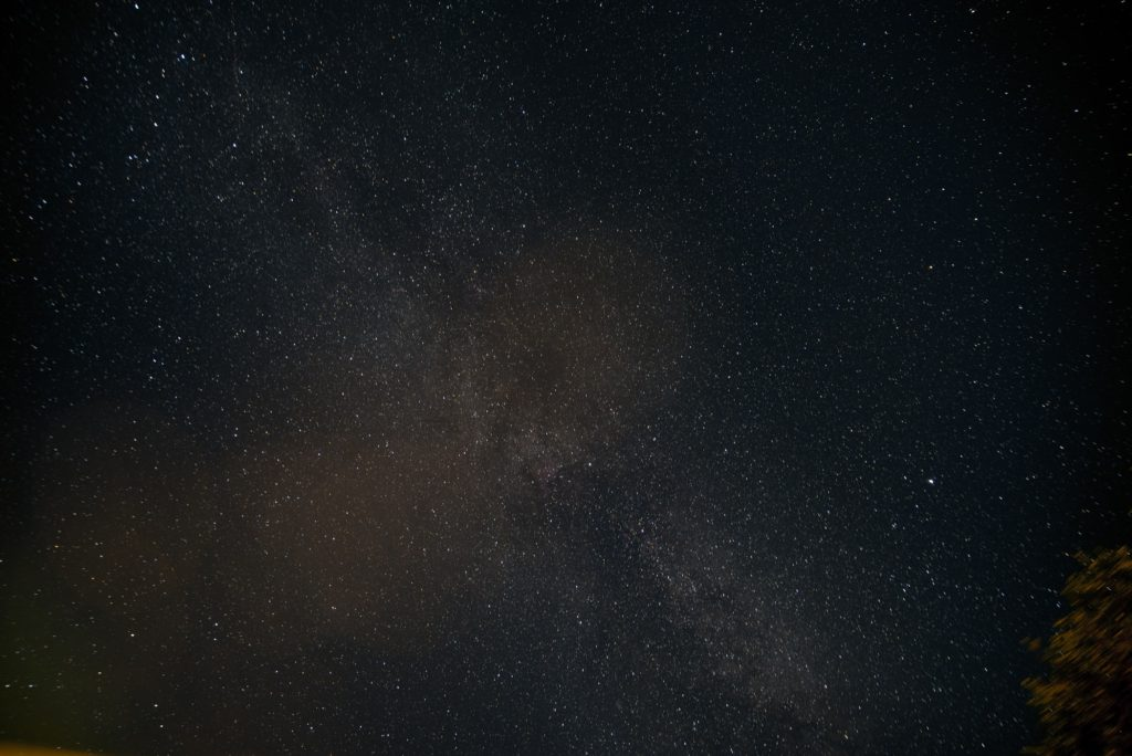 Milchstraße. 3 Minuten Belichtung (fast) ohne Sternenspuren