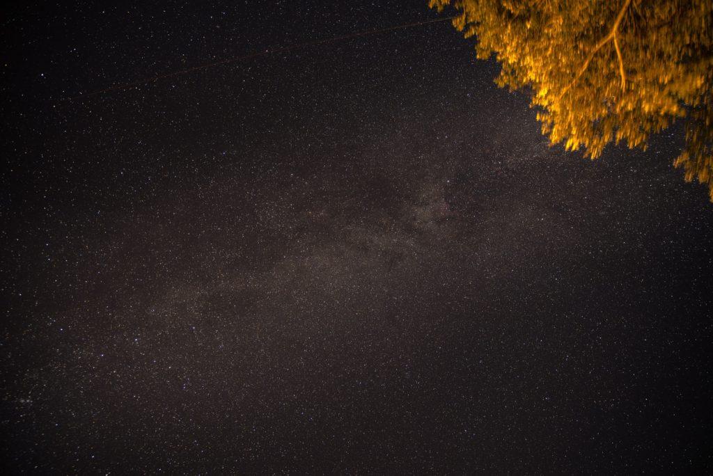 3 Minuten Belichtung nahezu ohne Sternenspuren.